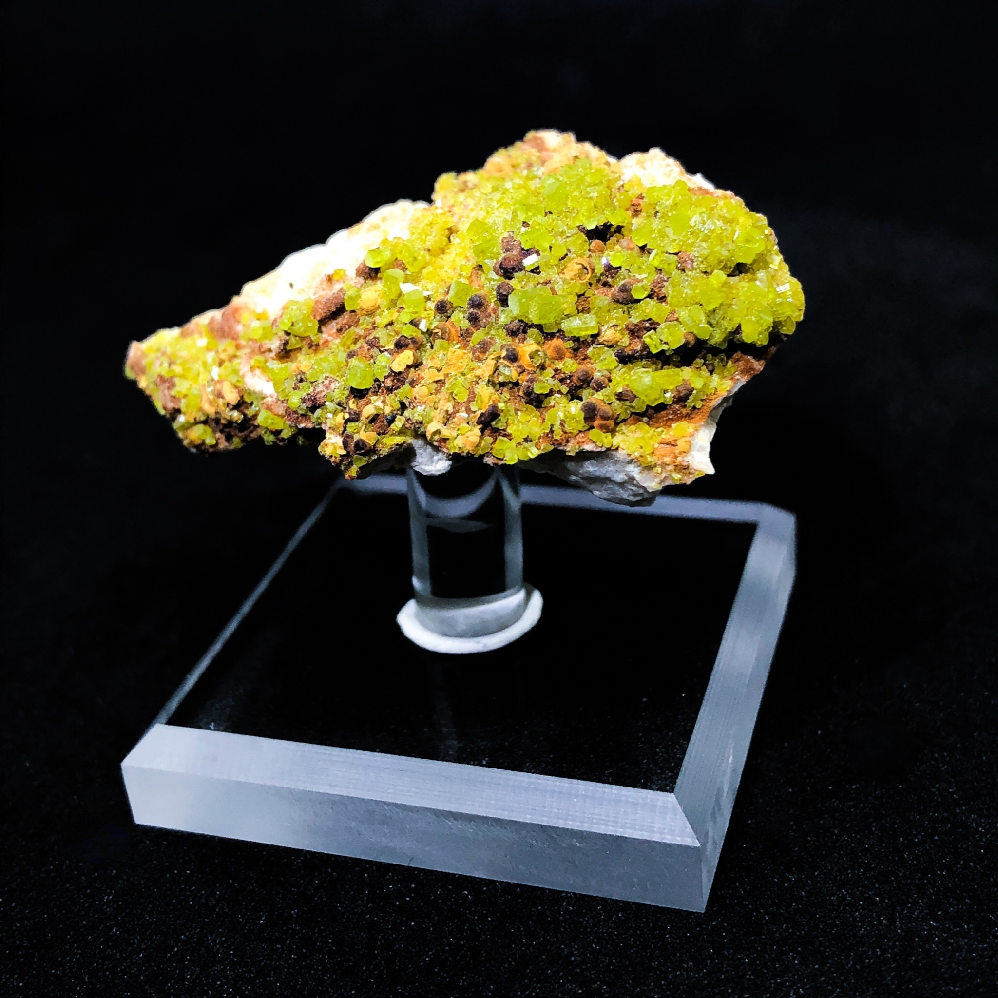 Pyromorphite on Matrix